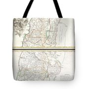 1763 De Lisle Map Of The Holy Land Tote Bag