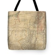 1768 Holland  Jeffreys Map Of New York And New Jersey  Tote Bag