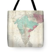 1768 Jeffreys Wall Map Of India And Ceylon Tote Bag