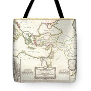 1771 Bonne Map Of The New Testament Lands Holy Land And Jerusalem Tote Bag
