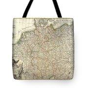 1771 Rizzi Zannoni Map Of Germany And Poland Tote Bag