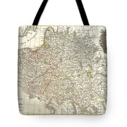 1771 Zannoni Map Of Poland And Lithuania Tote Bag