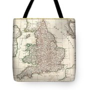 1772 Bonne Map Of England And Wales  Tote Bag