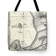 1773 Bellin Map Of The Cape Of Good Hope Capetown South Africa Tote Bag