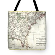 1776 Bonne Map Of Louisiana And The British Colonies In North America Tote Bag