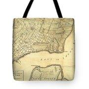 1776 New York City Map Tote Bag