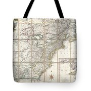 1779 Phelippeaux Case Map Of The United States During The Revolutionary War Tote Bag