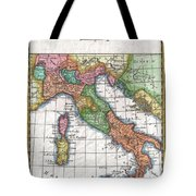1780 Raynal And Bonne Map Of Italy Tote Bag