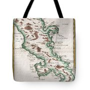 1780 Raynal And Bonne Map Of Martinique West Indies Tote Bag
