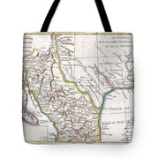 1780 Raynal And Bonne Map Of Mexico And Texas  Tote Bag