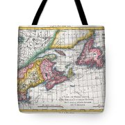 1780 Raynal And Bonne Map Of New England And The Maritime Provinces Tote Bag