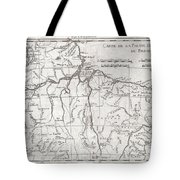1780 Raynal And Bonne Map Of Northern Brazil Tote Bag