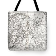 1780 Raynal And Bonne Map Of Northern Europe And European Russia Tote Bag