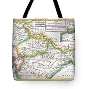 1780 Raynal And Bonne Map Of Northern India Tote Bag