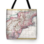 1780 Raynal And Bonne Map Of Northern United States Tote Bag