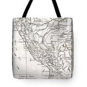 1780 Raynal And Bonne Map Of Peru Tote Bag