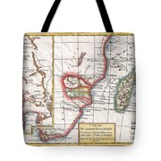 1780 Raynal And Bonne Map Of South Africa Zimbabwe Madagascar And Mozambique Tote Bag