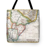 1780 Raynal And Bonne Map Of Southern Brazil Northern Argentina Uruguay And Paraguay Tote Bag