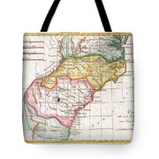 1780 Raynal And Bonne Map Of Southern United States Tote Bag