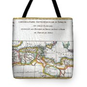1780 Raynal And Bonne Map Of The Barbary Coast Of Northern Africa Tote Bag