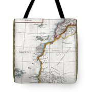 1780 Raynal And Bonne Map Of Western Africa Tote Bag