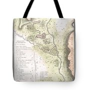1783 Bocage Map Of The Topography Of Sparta Ancient Greece And Environs Tote Bag