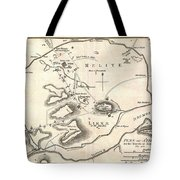 1784 Bocage Map Of Athens Greece Tote Bag