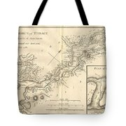 1784 Bocage Map Of The Bosphorus And The City Of Byzantium  Istanbul  Constantinople Tote Bag