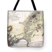 1784 Bocage Map Of The City Of Athens In Ancient Greece Tote Bag