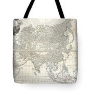 1784 D Anville Wall Map Of Asia Tote Bag