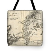 1785 Bocage Map Of Athens And Environs Including Piraeus In Ancient Greece Tote Bag