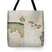 1785 Cook  Bligh Map Of Hawaii  Tote Bag