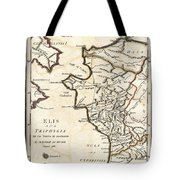 1786 Bocage Map Of Elis And Triphylia In Ancient Greece  Tote Bag