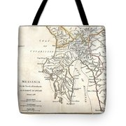 1786 Bocage Map Of Messenia In Ancient Greece Tote Bag