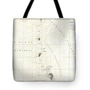 1786 La Perouse Map Of San Francisco Monterey Bay California And Oregon Tote Bag
