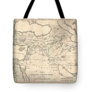 1787 Bonne Map Of The Dispersal Of The Sons Of Noah Tote Bag