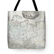 1787 Wall Map Of The Russian Empire Tote Bag