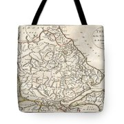 1788 Bocage Map Of Thessaly In Ancient Greece Tote Bag