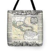 1788 Brion De La Tour Map Of Mexico Central America And The West Indies Tote Bag