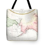 1788 Schraembl Map Of The Northwest Passage Tote Bag