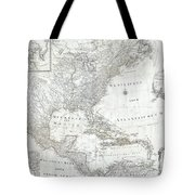 1788 Schraembl  Pownall Map Of North America And The West Indies Tote Bag