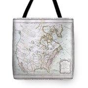 1789 Brion De La Tour Map Of North America Tote Bag