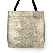 1790 Faden Map Of The Roads Of Great Britain Or England Tote Bag