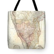 1793 Faden Wall Map Of India Tote Bag
