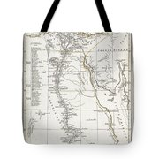 1794 Anville Map Of Ancient Egypt  Tote Bag