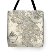 1794 Anville Map Of Ancient Greece  Tote Bag