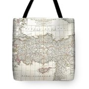 1794 Anville Map Of Asia Minor In Antiquity Tote Bag