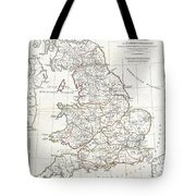 1794 Anville Map Of England In Ancient Roman Times Tote Bag