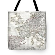 1794 Anville Map Of Europe In Late Roman Times Tote Bag