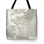 1794 Anville Map Of Gaul  Or France In Ancient Roman Times Tote Bag